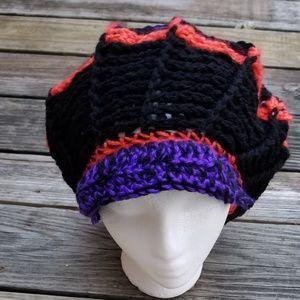 Found things Art Accessories - Crochet Funky Newsboy Hat Handmade